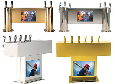 tv lcd dispensador de cerveza micro matic v pod
