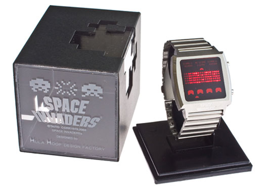 reloj space invaders