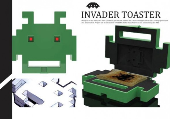 tostadora space invaders