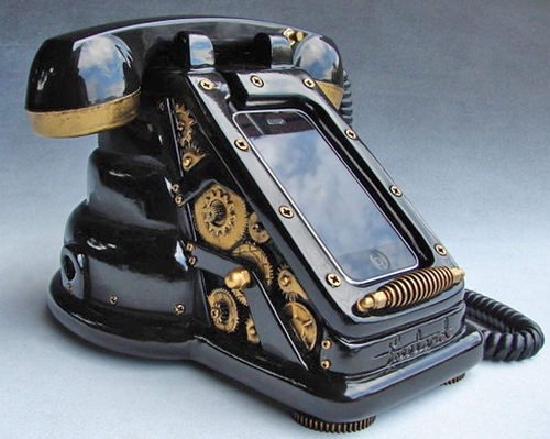 iphone-retro-telefono-steampunk